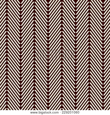 Chevron Diagonal Stripes Abstract Background. Tribal And Ethnic Style Seamless Pattern With Classic
