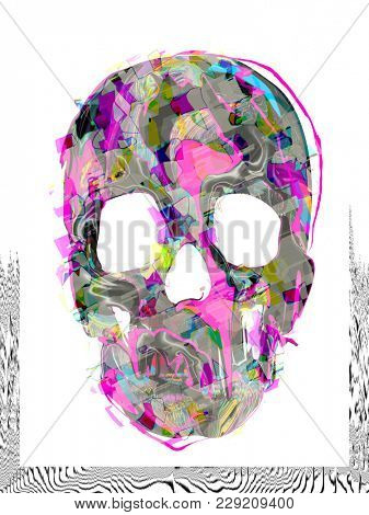 psychedelic scull background
