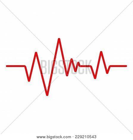Heartbeat Line. Ecg. Cardiogram Icon. Stock Vector