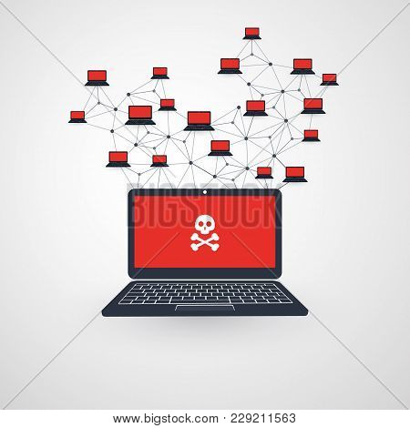 Network Vulnerability - Virus, Malware, Ransomware, Fraud, Spam, Phishing, Email Scam, Hacker Attack