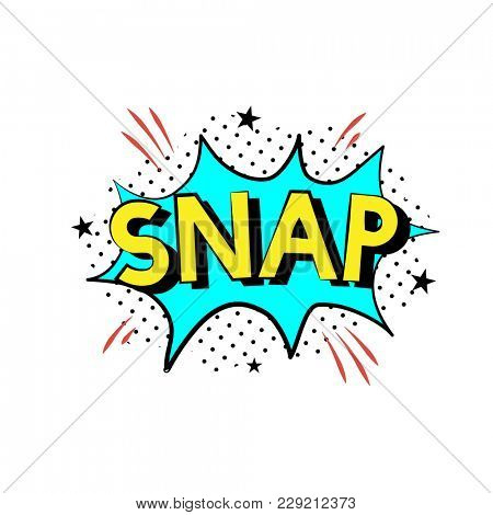 Illustration of Snap word with explosion design