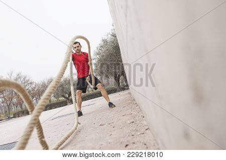 Man Training With The Rope