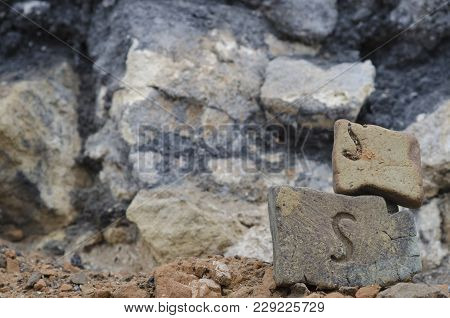 The Ancient Bricks Of A Ruined Building
