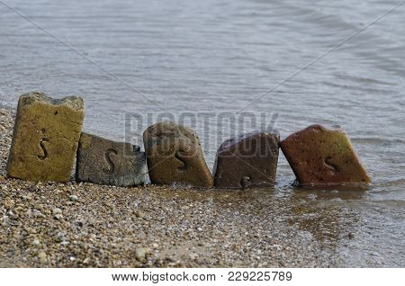 The Old Bricks On The Sea Shore