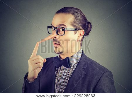 Liar Deceptive Business Man With Long Nose