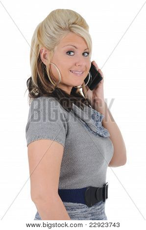 Attractive Woman Using A Smart Phone 12