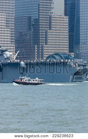 Uss Bataan On The Hudson River