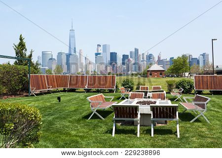 Liberty State Park With Manhattan In The Background