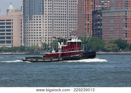 Miriam Moran Tug On Hudson River