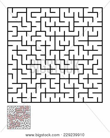 Labyrinth, Maze Conundrum For Kids