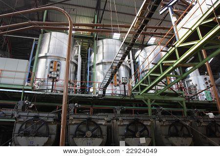 interior of a sugar factory