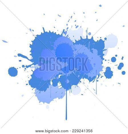 Abstract Vector Splatter Background. Colorful Ink Spots, Acrylic Paint Splatter, Grunge Abstract Pai