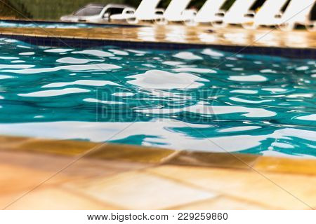 Swimming Pool With Crystal Blue Water With Stone Edge
