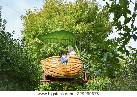 Terra Botanica, Angers, France - September 24, 2017: Travel Deep Into The Forest And Brush Past The