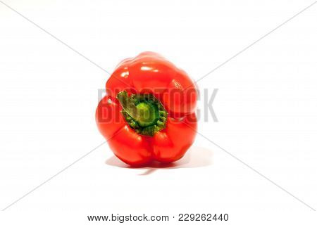 Red Pepper Bell Peppers Sweet Pepper Fresh Natural With Vitamins For Diet Food Vegetarian Salad Isol