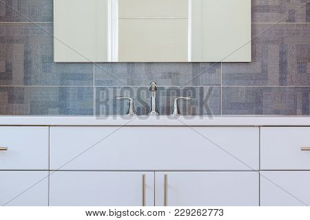 Granite Modern Bathroom Interior With Minimalist Washbasin And Bathtub Bathroom Washbasin
