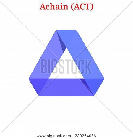 Vector Achain (act) Digital Cryptocurrency Logo. Achain (act) Icon. Vector Illustration Isolated On