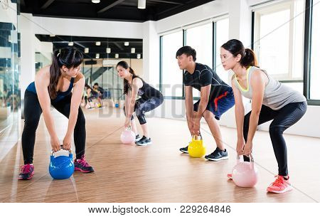 Professional Asian Fitness Trainer Teaching
