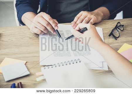 Young Students Campus Or Classmates With Helps Friend Studying For A Test An Exam In Workbook Learni