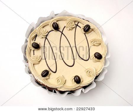 Beautiful whole cake with pistachio cream.