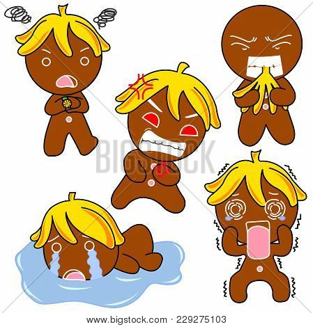 Ginger Bread  Pictures Used As Illustrations. Which Has A Variety Of Emotions.