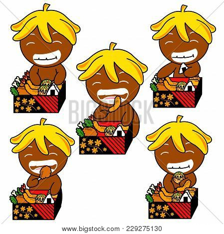 Ginger Bread  pictures used as illustrations. Which has a variety of emotions. poster