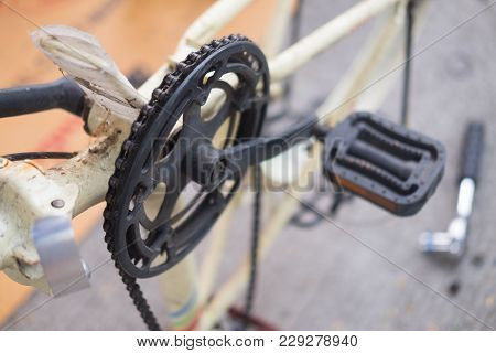 Bicycle Fix Or Fixing A Bike (concept Of Repairing)