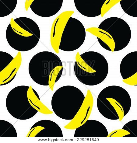 Vibrant Dots Banana Background. A Vibrant, Modern, And Flexible Pattern For Brand Who Has Edgy Style