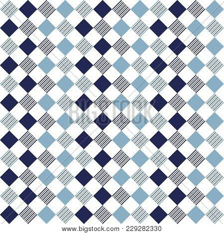 Square Pattern With Lines. Geometric And Modern Pattern For Brand Who Has Mature Style, It Can Use F