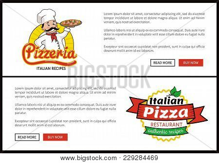 Pizzeria And Italian Pizza Restaurant, Authentic Recipes, Web Pages With Informational Text And Head