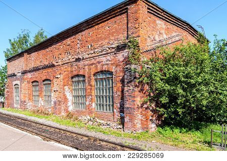 Old Depot Of Red Brick At The Provincial Railway Station