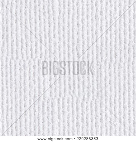 Background From White Coarse Canvas. Seamless Square Texture. Tile Ready.