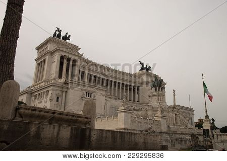 The Altare Della Patria, Also Known As The Monumento Nazionale A Vittorio Emanuele Ii Or Il Vittoria