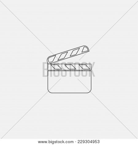 Film Strip Icon Vector Illustration. Cinema Strip Icon