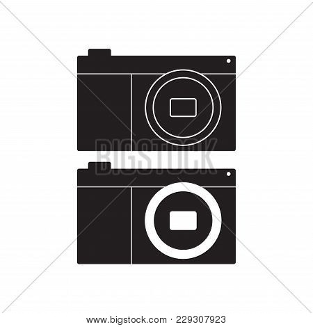 Camera Icon Vector Illustration. Flat Sign Isolated On White Background.