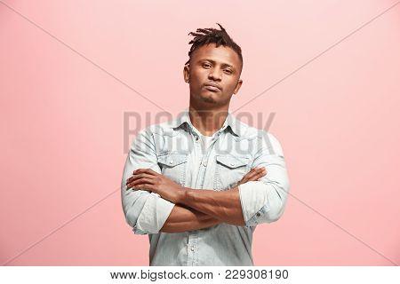 Suspicion. Doubt, Mistrust, Distrust Concept. Doubtful Afro Man Looking With Disbelief Expression .