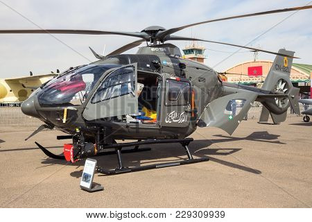 Marrakech, Morocco - Apr 28, 2016: Royal Moroccan Gendarmerie (military Police) Eurocopter Ec-135 He