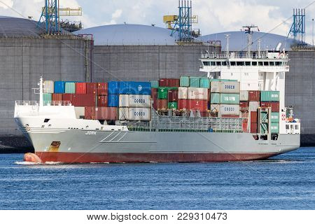 Container Ship Port Rotterdam