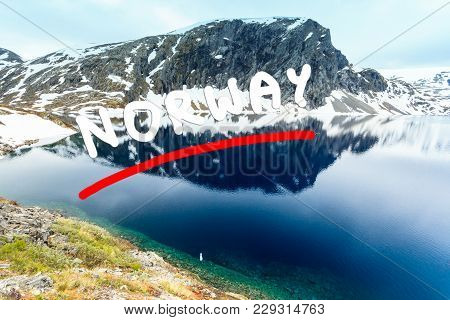 Tourism Holidays And Travel. Djupvatnet Lake In Stranda More Og Romsdal, Norway Scandinavia.
