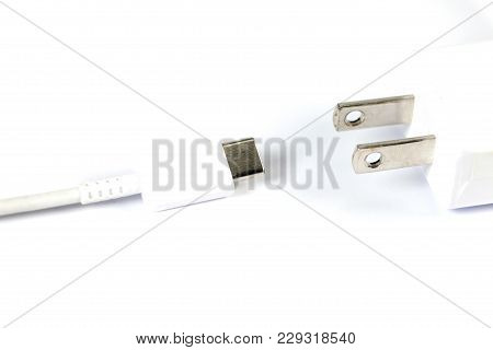 Close Up Of Usb Type C Isolated On White