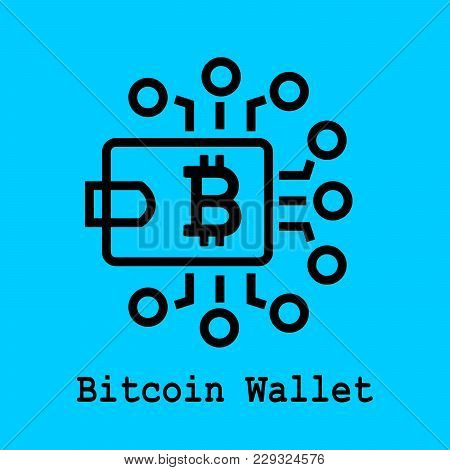 Block Chain Flat Icon. Bitcoin Wallet Symbol. Vector Illustration. Block Chain Technology Concept.