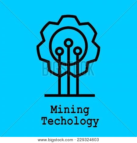 Block Chain Flat Icon. Mining Technology Symbol. Vector Illustration. Block Chain Technology Concept