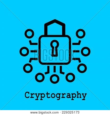 Block Chain Flat Icon. Cryptography Symbol. Vector Illustration. Block Chain Technology Concept.