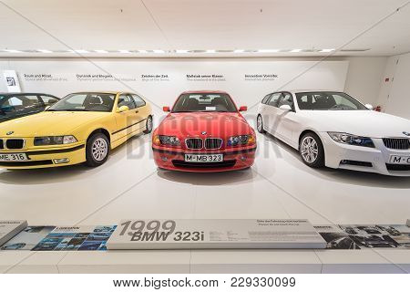 Munich, Germany - January 20, 2017 : Collection Of Classical Cars