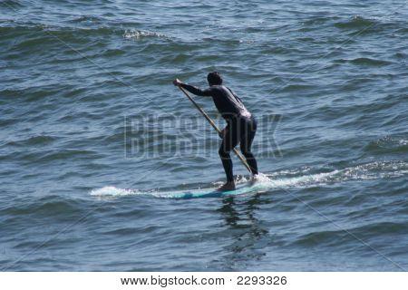 Man On Surf Board