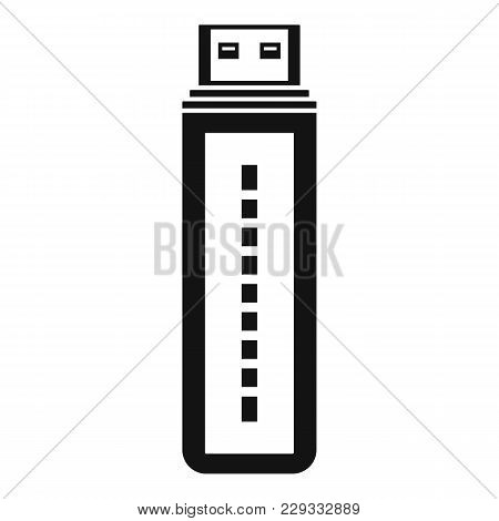 Flash Drive Icon. Simple Illustration Of Flash Drive Vector Icon For Web