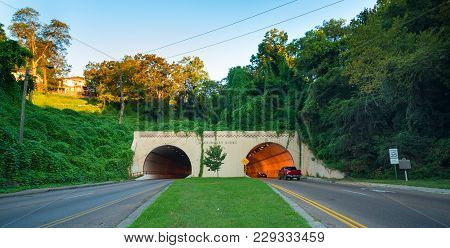 Highway Tunnel Under Missionary Ridge In Chattanooga Tennessee