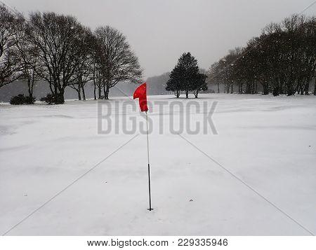 Snow Covered Golf Course, Chorleywood Common, Hertfordshire, Uk