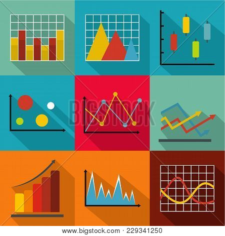 Economic Policy Icons Set. Flat Set Of 9 Economic Policy Vector Icons For Web Isolated On White Back