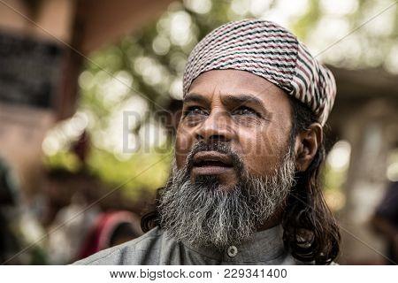 Bearded senior muslim